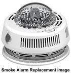 BRK Electronics First Alert SA100S 120V AC Hardwired Ionization Smoke Alarm with Strobe Light for Hearing Impaired