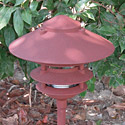 "Focus Industries AL-03-4T-10-RBV 12V 18W 10"" Four Tier Pagoda Hat Area Light, Rubbed Verde Finish"