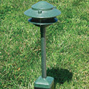 "Focus Industries AL-03-RBV 12V 18W 6"" Two Tier Pagoda Hat Area Light, Rubbed Verde Finish"