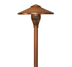 "Focus Industries AL-04-LEDP-WBR 12V 4W LED 300 lumens 7.5"" China Hat Area Light, Weathered Brown Finish"