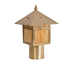 Focus Industries AL-10-BRS 12V S8 Incandescent Post Lantern, no mounting supplied, Area Light, Unfinished Brass