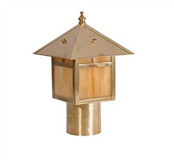 Focus Industries AL-10-FL13S-BAR 120V 13W 4100K CFL Post Lantern, no mounting supplied, Area Light, Brass Acid Rust Finish