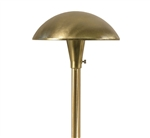 "Focus Industries AL-12-BRS 12V S8 Incandescent 8"" Mushroom Hat Area Light, Unfinished Brass"