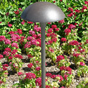 "Focus Industries AL-12-RBV 12V 18W 8"" Large Mushroom Hat, Area Light, Rubbed Verde Finish"