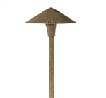 "Focus Industries AL-15-BAV 12V S8 Incandescent 8"" Tiki Hat Area Light, Brass Acid Verde Finish"