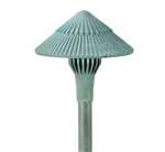 "Focus Industries AL-15-SM-LEDP-RBV 12V 4W LED 300 lumens 5.75"" Tiki Hat Area Light, Rubbed Verde Finish"