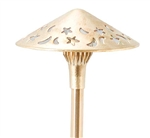 "Focus Industries AL-16-LEDP-BAV 12V 4W LED 300 lumens 8"" Stars and Moons Hat Area Light, Brass Acid Verde Finish"
