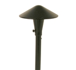 "Focus Industries AL-17-AH-WBR 12V 20W T3 Halogen 8"" China Hat Area Light, Weathered Brown Finish"