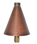 Focus Industries AL-18-LGHHNG-CAR Large Hammered Natural Gas Fed Torch Area Light, Copper Acid Rust Finish