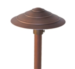 "Focus Industries AL-20-AH-WBR 12V 20W T3 Halogen 8"" Saturn Rings Hat Area Light, Weathered Brown Finish"