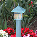 Focus Industries Al-09-RBV-120V 120V Post Lantern Area Light, Rubbed Verde Finish