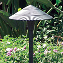"Focus Industries Al-15-BLT-120V 120V 8"" Tiki Hat, Area Light, Black Texture Finish"