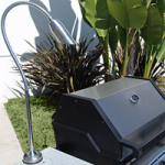 "Focus Industries BQ-09-FD-CPL 12V Chrome Polish Mini Bullet BBQ Flex Light Deck Series with 24"" Flex Arm Finish"
