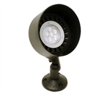 "Focus Industries DL-03-4414-BLT 12V 18W PAR36 Halogen 5"" Bullet Directional Light, Black Texture Finish"
