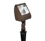 Focus Industries DL-04-BAV 12V 18W S8 Incandescent Directional Floodlight, Brass Acid Verde Finish