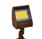 Focus Industries DL-04-LEDP4W-WBR 12V 4W LED 300 lumens Aluminum Floodlight, Weathered Brown Finish