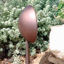 Focus Industries DL-09-WBR 12V Floodlight Mushroom Style 18W, Weathered Brown Finish
