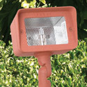Focus Industries DL-15-H-WBR-120V 120V Mini Floodlight Cast Aluminum Style, Directional Light, Weathered Brown Finish