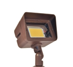 Focus Industries DL-15-LEDP412V-BAR 12V 4W LED 300 lumens Directional Floodlight, Brass Acid Rust Finish