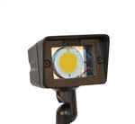 Focus Industries DL-15SM-LEDPR412V-BRS 12V 4W LED 300 lumens Small Directional Floodlight, Unfinished Brass