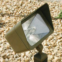 Focus Industries DL-16-NL-MH-100-WBR 120V Directional Floodlight Cast Aluminum Style 100W MH, Weathered Brown Finish