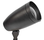Focus Industries DL-30-EC-FL18S-BLT 120V 18W CFL Spiral Bullet Directional Light with Extension Collar, Black Texture Finish
