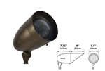 Focus Industries DL-38-NL-ACL-TRC 120V PAR38 Halogen Bullet Directional Light with Angle Collar and Convex Lens, Lamp Not Included, Terra Cotta Finish