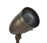 Focus Industries DL-38-NL-ECL-BAV 120V PAR38 Halogen Bullet Directional Light with Extension Collar and Convex Lens, Lamp Not Included, Brass Acid Verde Finish