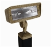 Focus Industries DL-40-2H20-BAR 12V 2x20W SC Bayonet Directional Floodlight, Brass Acid Rust Finish
