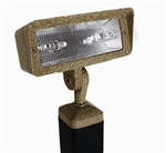 Focus Industries DL-40-2H50-WIR 120V 2 x50W DC Bayonet Directional Floodlight, Weathered Iron Finish