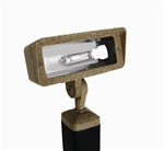 Focus Industries DL-40-NLMH39-BAR 120V 39W HID Metal Halide Directional Floodlight, Lamp Not Included, Brass Acid Rust Finish