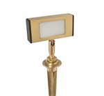 Focus Industries DL-41-HOR-LEDM-BAV 12V 3W LED Horizontal Mini Directional Floodlight, Brass Acid Verde Finish
