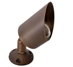 Focus Industries DL-43-LEDM1115-BRT 12V 11W LED Spot 15 Degree Bullet Directional Light, Bronze Texture Finish
