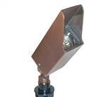 Focus Industries DL-44-BAR 12V 20W MR16 Halogen Square Directional Light, Brass Acid Rust Finish