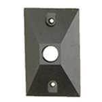 "Focus Industries FA-22-BLT Cast Aluminum, Single 1/2"" NPS hole, Angle Cut, Rectangular Canopy, Black Texture Powder Coat Finish"