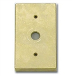 "Focus Industries FA-22-BRS Stamped Brass, Single 1/2"" IP Open Hole Rectangular Canopy Finish"