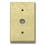 "Focus Industries FA-22-CST-BRS Rectangle Canopy, 1/2"" NPS, Cast Brass"