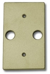 "Focus Industries FA-23-BRS Stamped Brass, double 1/2"" IP hole rectangular canopy, Unfinished Brass"