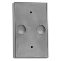 "Focus Industries FA-23-CST-BLT Cast Aluminum, double 1/2"" NPS hole rectangular canopy, Black Texture Powder Coat Finish"