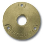 "Focus Industries FA-24-BRS Brass, single 1/2"" NPS threaded round mini canopy, Unfinished Brass"
