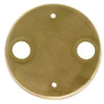 "Focus Industries FA-24-LG-DH-BRS 1/2"" 2 hole Brass canopy Finish"