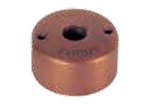 "Focus Industries FA-24-MDCST-BAR Brass, single ingle 1/2"" NPS threaded round mini canopy, Acid Rust Finish"