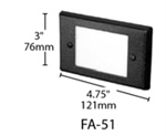 Focus Industries FA-51-BLT Stamped Aluminum Face Plate for SL-02-AL, White Acrylic lens, Black Finish