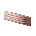 Focus Industries FA-52-WBR Stamped Aluminum Face Plate for SL-04, 4 Louver, Weathered Brown Finish