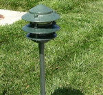"Focus Industries FAL-03-FL13S-ATV 120V 13W CFL spiral 3 Tier 6"" Pagoda Hat Area Light, Antique Verde Finish"