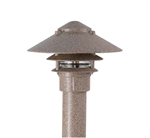 "Focus Industries FAL-03-FL13S103-ATV 120V 13W CFL spiral 3 Tier 10"" Pagoda Hat, 3"" Post Mount Base Area Light, Antique Verde Finish"
