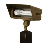 Focus Industries FFL-13-CST-BAR 120V 13W CFL Floodlight with Hood Extension, Brass Acid Rust Finish