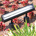 Focus Industries FFL-24-T5HO-35K-BLT 120V Floodlight with Adjustable Swivel, 24W T5 Fluorescent 3500K, Black Texture Finish