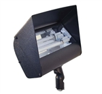 Focus Industries FFL-26HE-BLT 120V 2 x 13W CFL 4100K, Floodlight with Hood Extension, Black Texture Finish