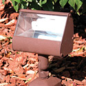 Focus Industries FFL-5-WBR 120V Floodlight with Adjustable Swivel, 5W Compact Fluorescent, Weathered Brown Finish